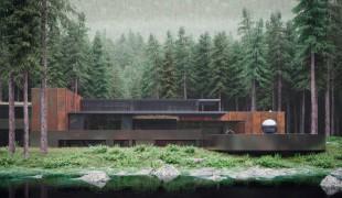 Sergey Makhno e la sua casa immersa nella foresta ucraina