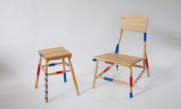 Sedie e sgabelli creativi basati sul celebre gioco di Mikado