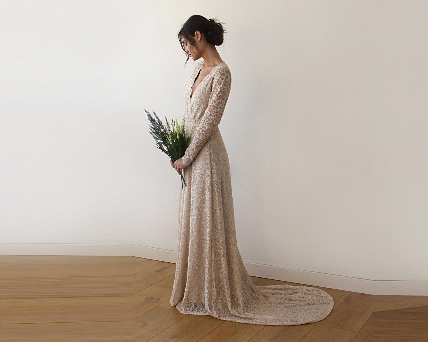 abito da damigella o da sposa elegante da cerimonia personalizzabile