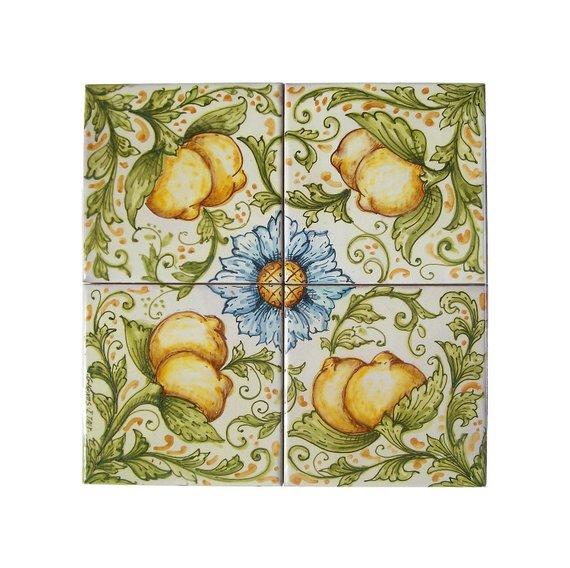 Pannello in ceramica limoni - idee decorazione casa