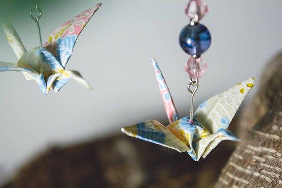 Orecchini giapponesi - carta tradizionale Washi - gioielli fatti a mano