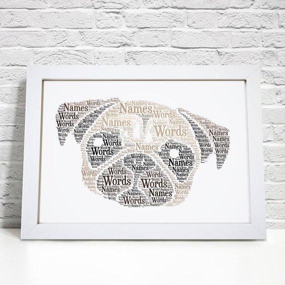 Regalo personalizzato di compleanno - stampa con cane