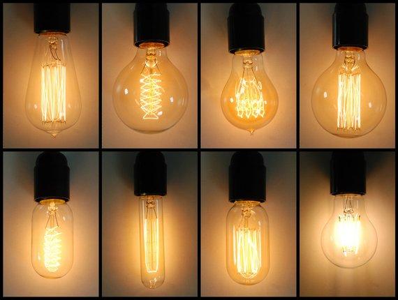 Lampadine stile vintage industriale